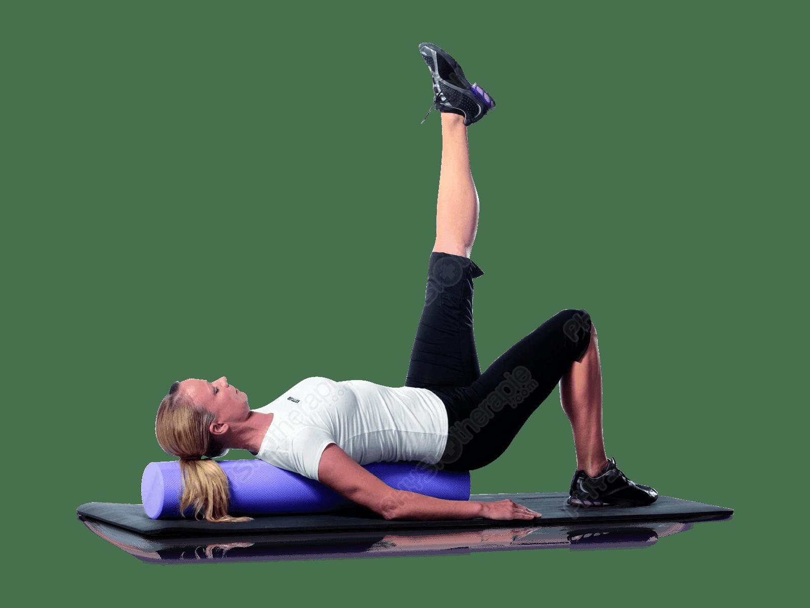 Le rouleau Pilates, idéal pour le dos.