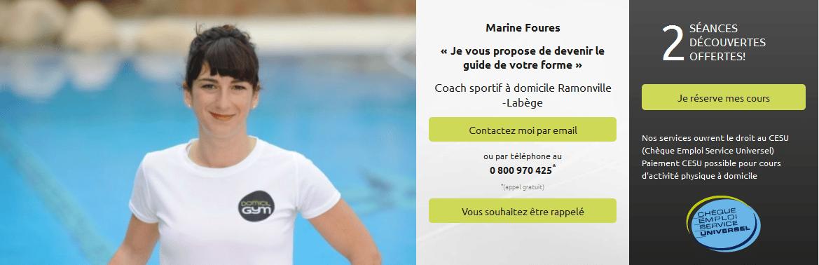Interview Marine Foures, coach et diététicienne Domicil'Gym