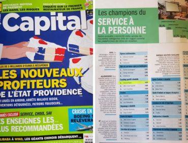 DOMICIL'GYM ®: enseigne la plus recommandée selon Capital Magazine